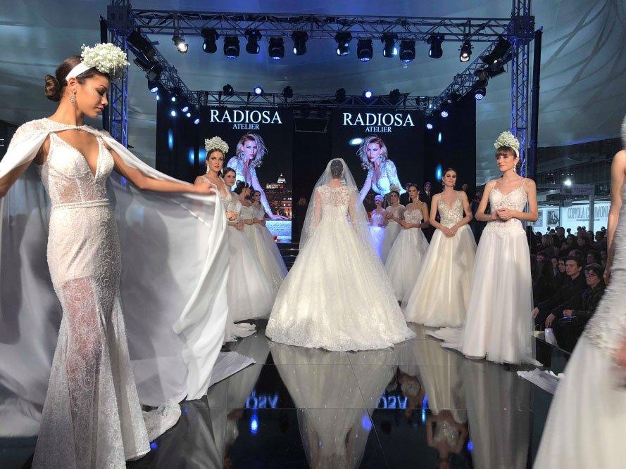 Sfilata abiti da sposa Radiosa a Roma Sposa 2018
