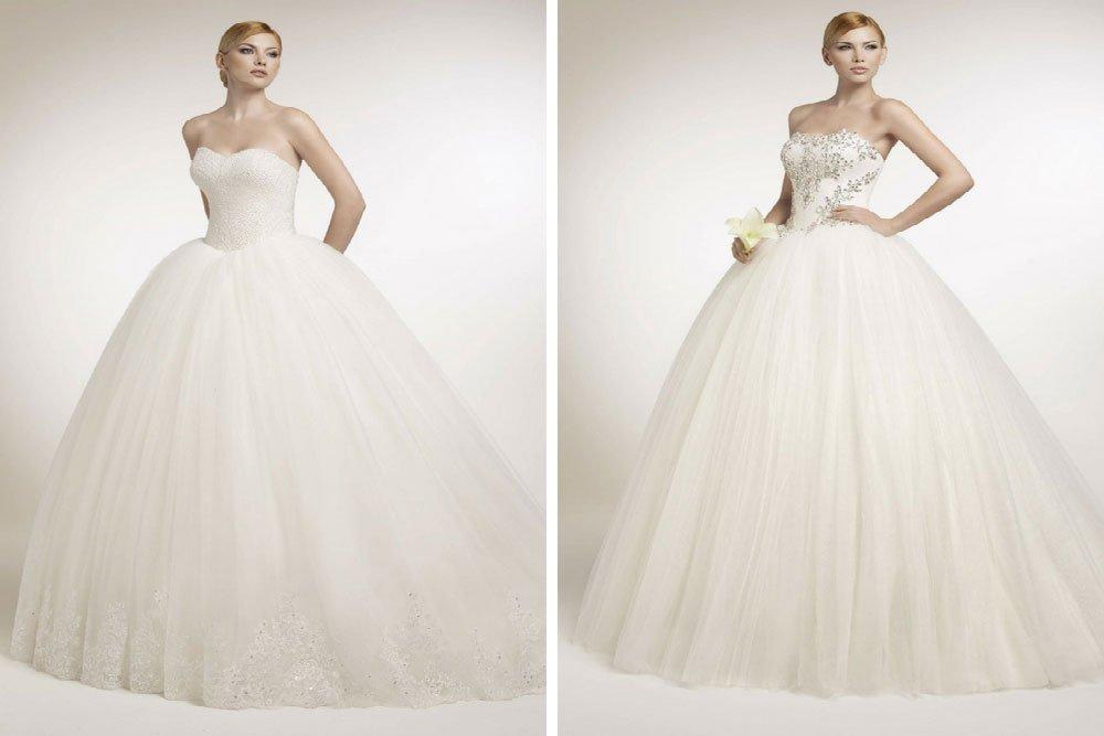 le caratteristiche dell'abito da sposa a principessa