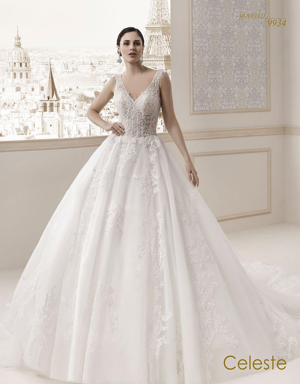 Celeste modello sposa 9934