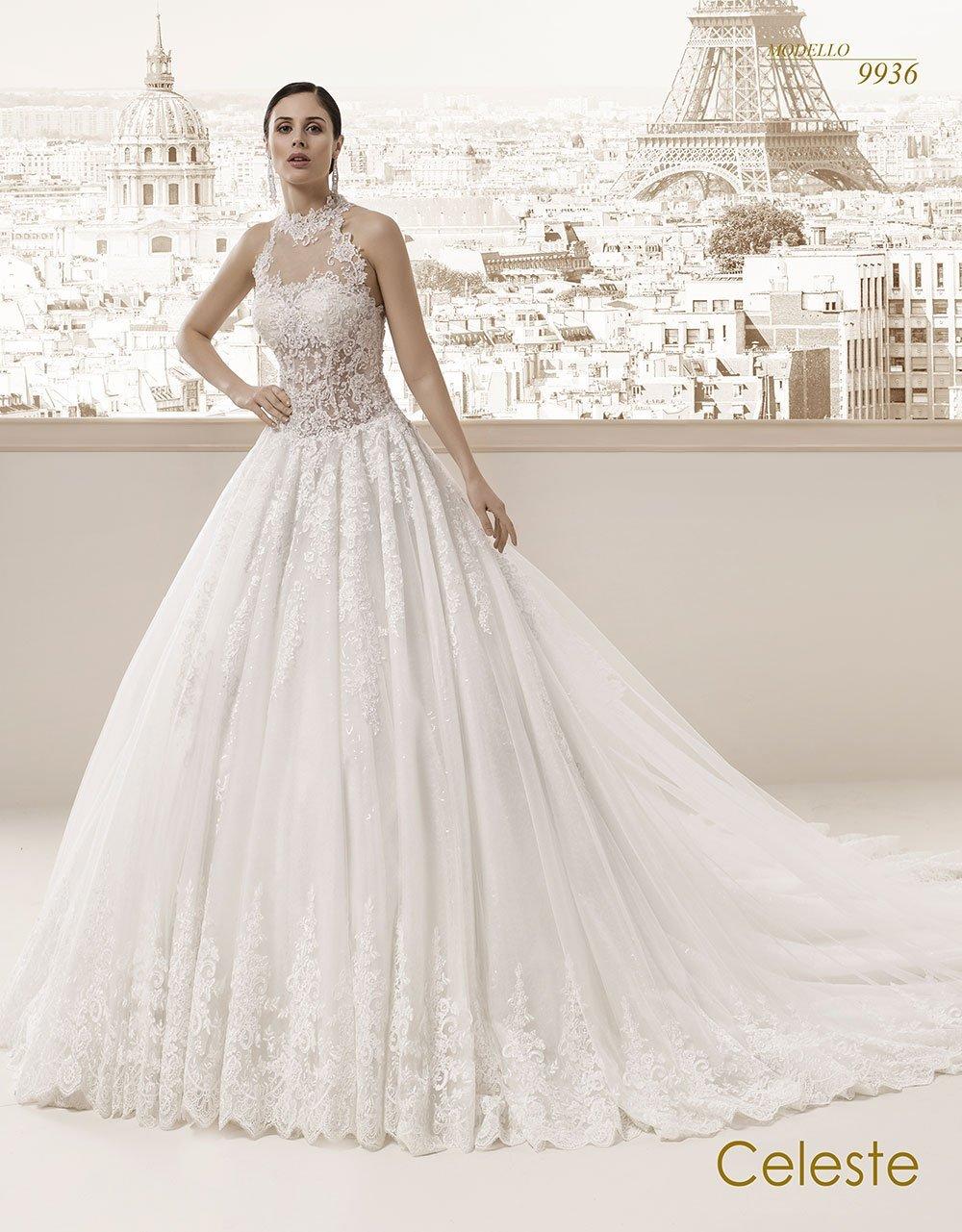 Celeste modello sposa 9936